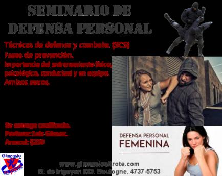 seminario de defensa personal 30 de marzo